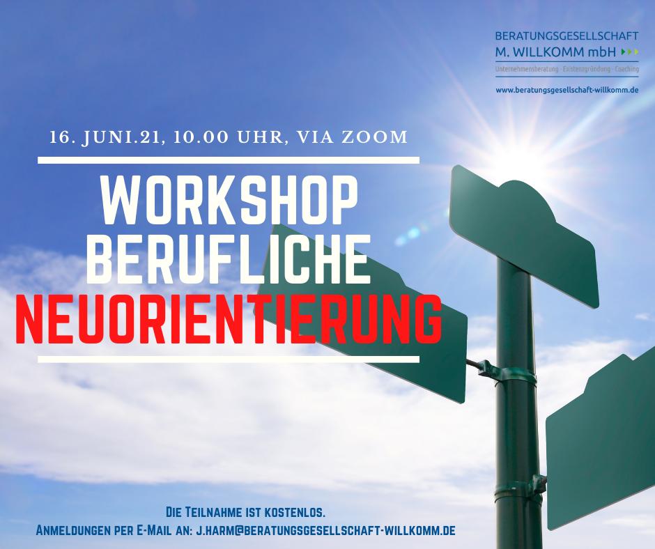 Flyer für Workshop Jobcoaching mit Dr. Julia Harm